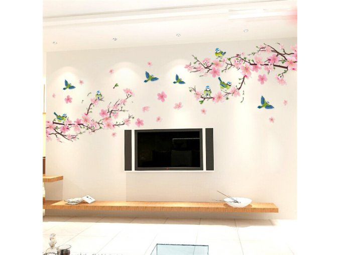 Dekorační květinová samolepka na zeď