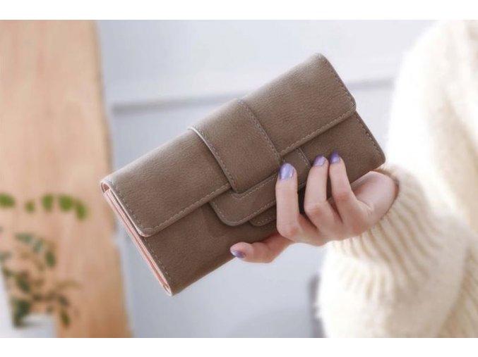 Stylová peněženka - SLEVA 80% (Barva Šedá)
