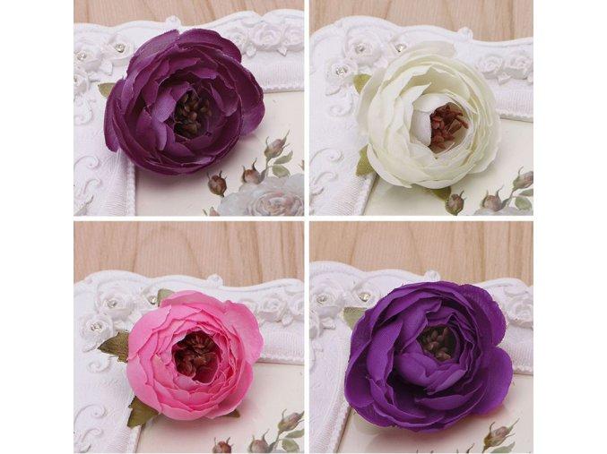 Hedvábné dekorativní růžičky - 10ks - SLEVA 80% (Barva Růžová)