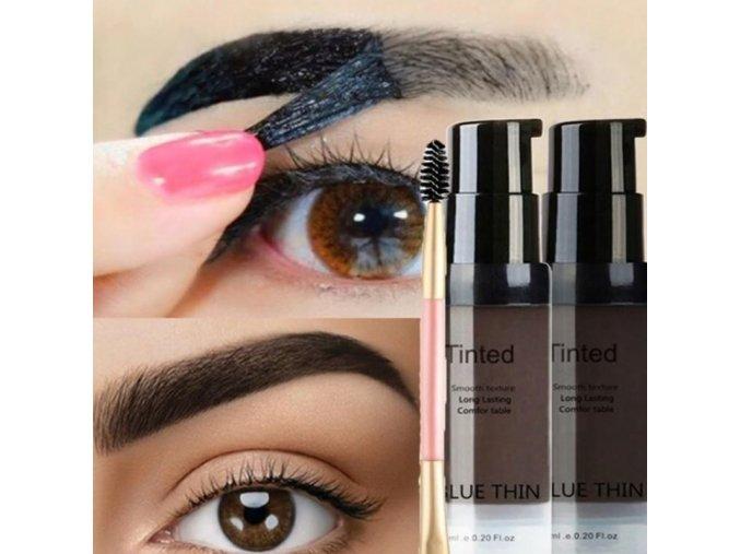 Kosmetika - úprava obočí  - dlouhotrvající gel se štětečkem na obočí - barva na obočí