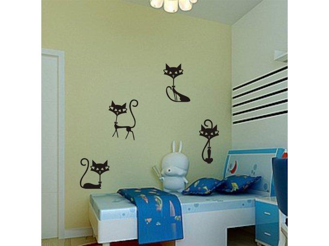 Samolepící dekorace na zeď - kočičky