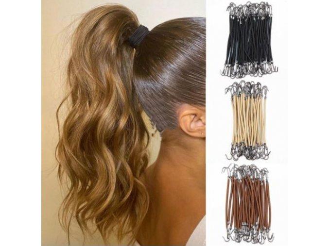 Vlasy - účesy - zajímavá gumička do vlasů s háčky po 5ks - gumičky - výprodej skladu