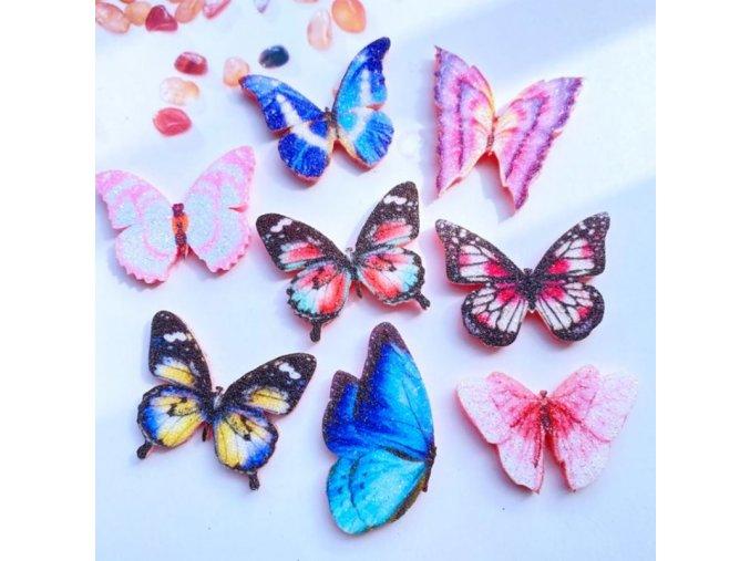 Dekorace - motýli - dekorace třpytivý motýli na tvoření po 10 ks - tvoření s dětmi