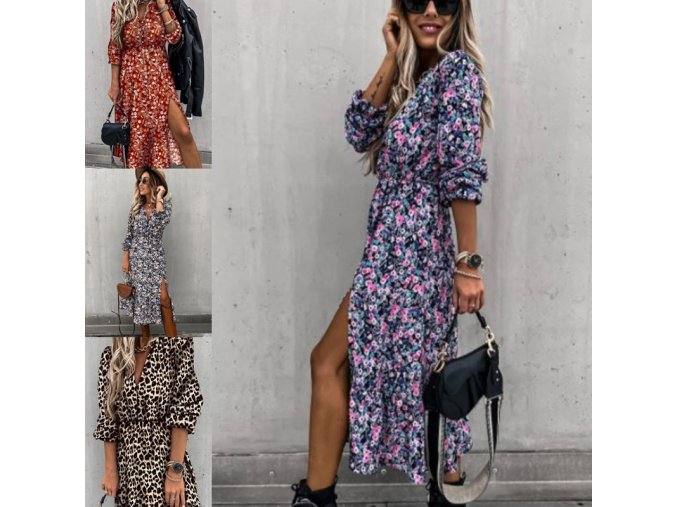 oblečení  - dámské šaty - šaty - krásné vzdušné delší  šaty vhodné na léto - letní šaty