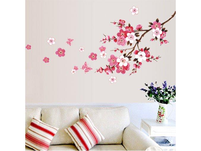 Dekorativní samolepka na zeď - květiny