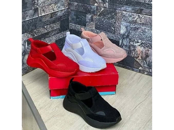Boty - dámské boty - dámské sportovní pohodlné nazouvací boty - dámské tenisky - dárky pro ženu
