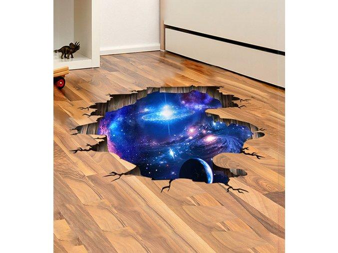 3D vesmírná samolepka
