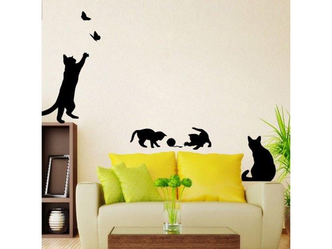 Samolepky s kočičkami na zeď