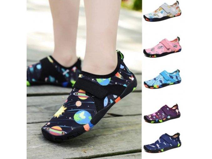 Boty - dětské boty - dětské sportovní boty vhodné i do vody s různými vzory - boty do vody - výprodej skladu