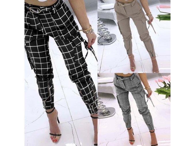 oblečení  - kalhoty - dámské volné stylové kalhoty s kapsami - nadměrné velikosti - dámské kalhoty