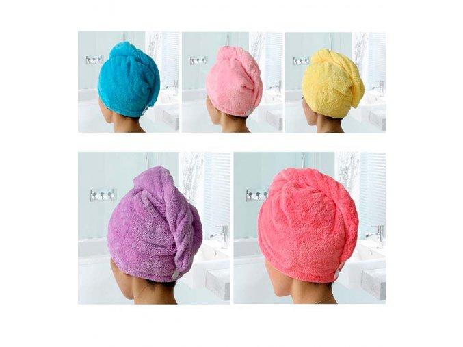 Dámský super absorbující ručník na vlasy - SLEVA 70% (Barva Žlutá)