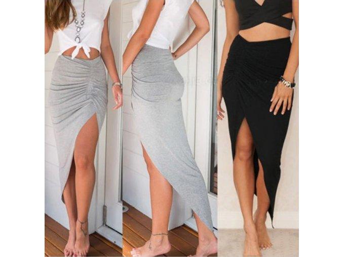Dámské oblečení -sukně - dámská dlouhá sukně s rozparkem - dlouhá sukně - dárky pro ženu
