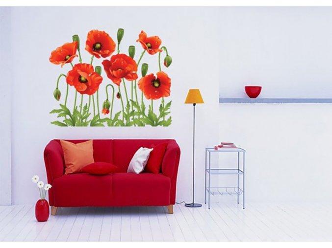 Samolepící květinová dekorace na zeď