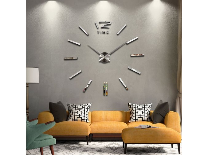 3D nástěnné nalepovací hodiny na zeď