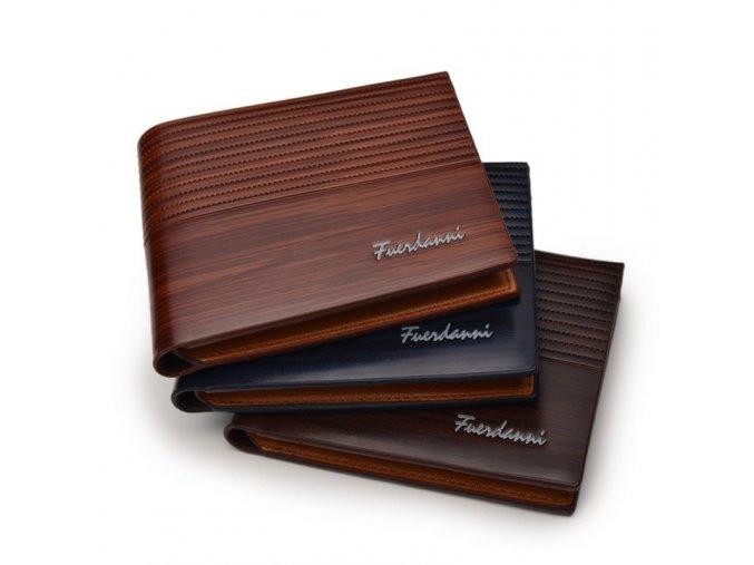 Luxusní pánské peněženky - 3 barvy - SLEVA 50% (Barva Tmavě hnědá)
