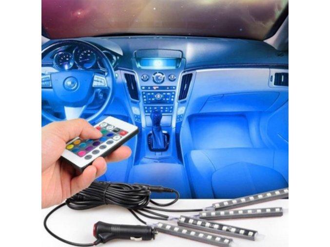 LED podsvícení do auta - 7 barev, dálkové ovládání