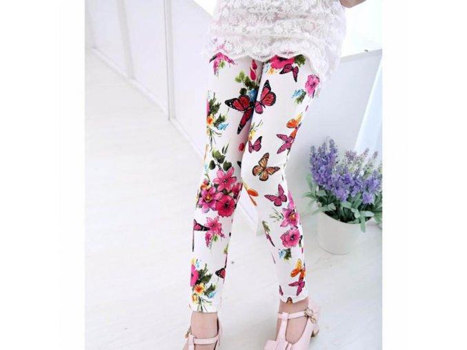 Dětské kalhoty s květinovým motivem - různé velikosti - SLEVA 70% (Velikost 8T)
