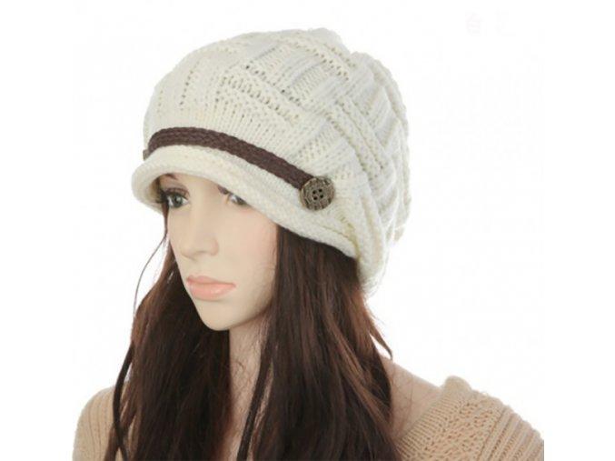 Dámská stylová čepice na zimu - různé barvy - SLEVA 70% (Barva Růžová)