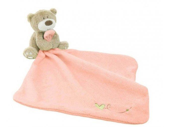 Usínáček pro miminko s medvídkem - SLEVA 60% (Barva Růžová)
