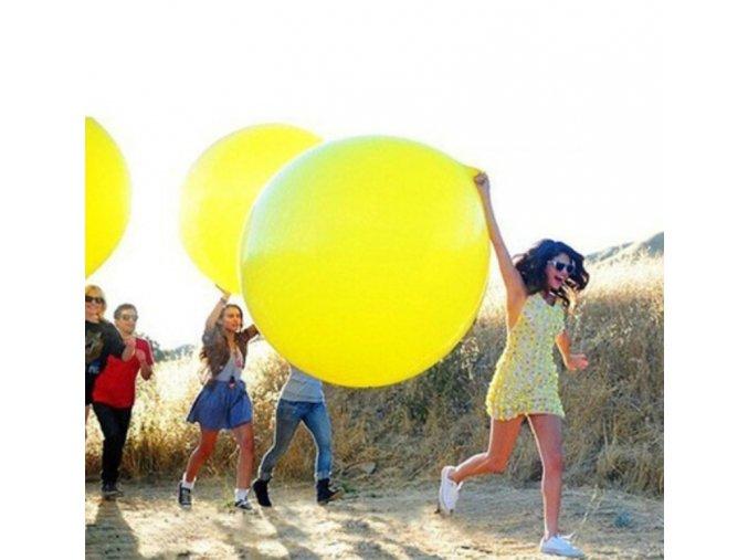 Velký nafukovací balónek - 90cm - různé barvy - SLEVA 70% (Barva Bílá)