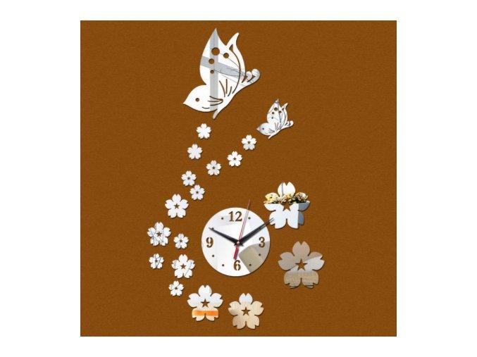 Akrylové samolepící dekorativní hodiny na zeď - SLEVA 60% (Barva Zlatá)