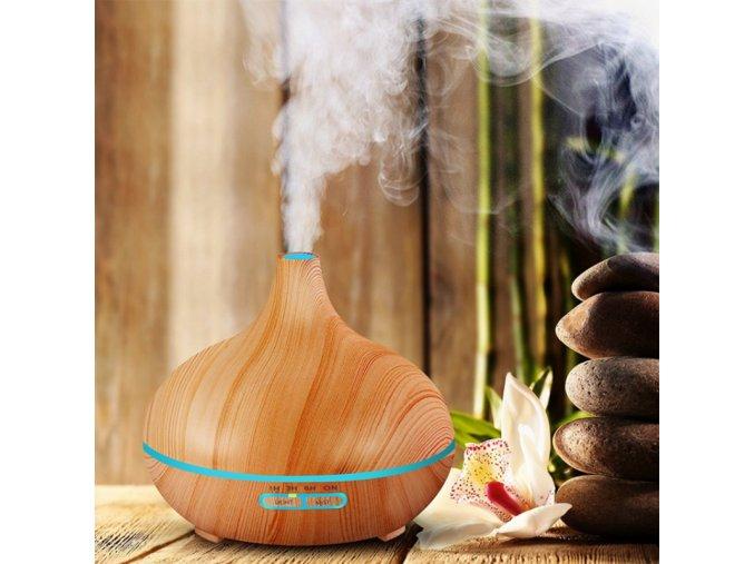 Elektrická aromaterapie - zvlhčovač vzduchu - SLEVA 50% (Barva Hnědá)