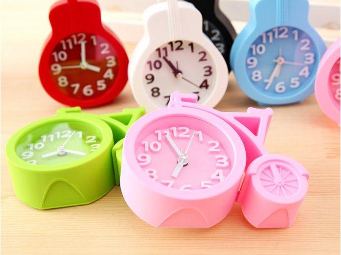 Stylové stolní hodiny ve tvaru kola - různé barvy - SLEVA 70% (Barva Růžová)