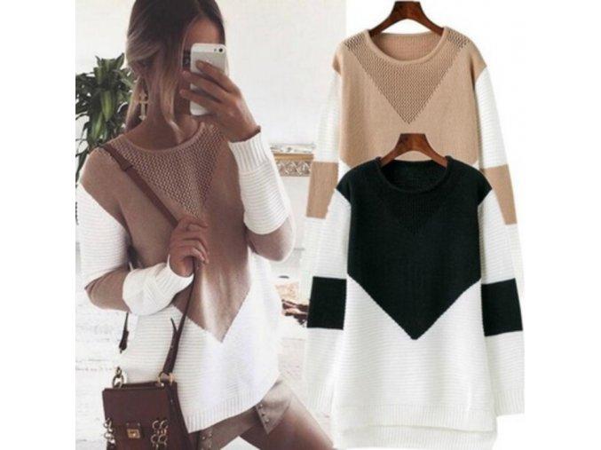 Dámský stylový svetr - různé barvy a velikosti - SLEVA 50% (Barva Šedá)