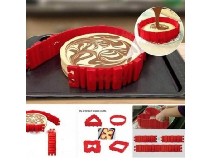 Flexibilní silikonová forma na pečení - 4 ks