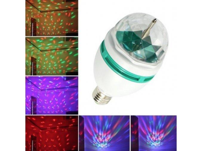 Multibarevná dekorativní disco žárovka