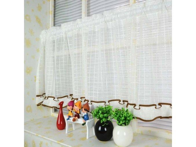 Elegantní záclonka - 90 x 45 cm - různé barvy - SLEVA 60% (Barva Žlutá)