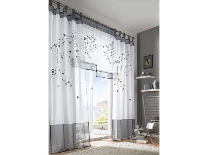 Elegantní záclona - 225x140 - různé barvy - SLEVA 60% (Barva Vínová)