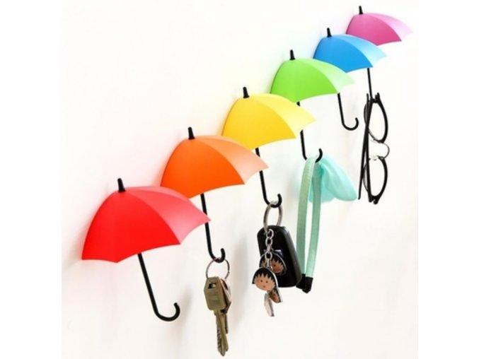 Praktické držáčky ve tvaru deštníků - 3ks