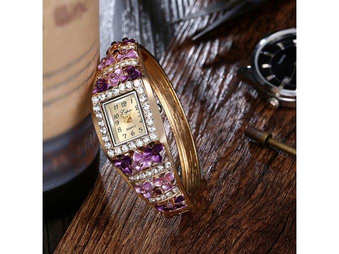 Luxusní dámské hodinky s krystaly