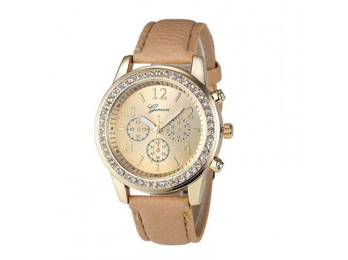 Dámské elegantní náramkové koženkové hodinky