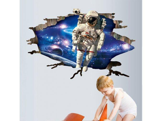 Samolepící 3D dekorace tapeta na zeď - Astronaut