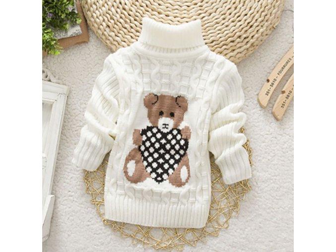 Roztomilý dětský svetr pro nejmenší - SLEVA 30% (Barva Růžová, Velikost S)