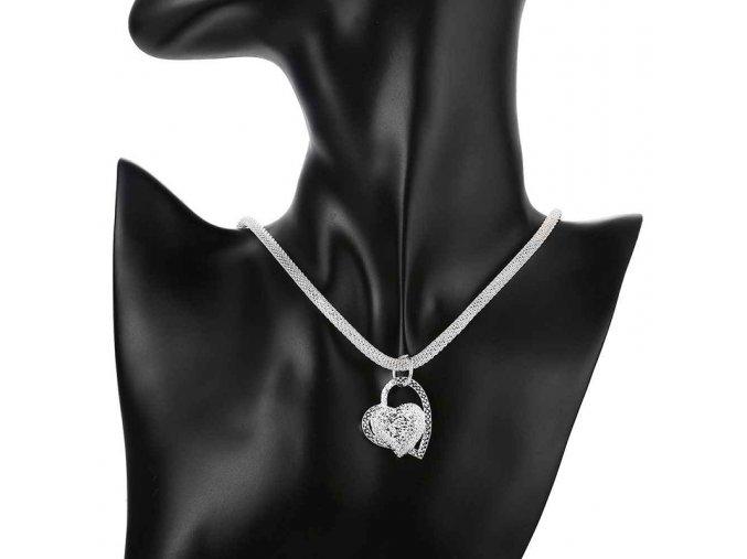 Stříbrný dámský náhrdelník