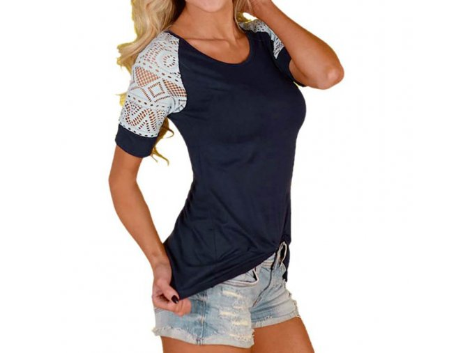 Lehké dámské letní tričko - SLEVA 35% (Velikost XL)