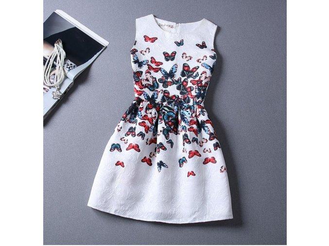 Dámské letní šaty s motýli + POŠTOVNÉ ZDARMA (Velikost S)