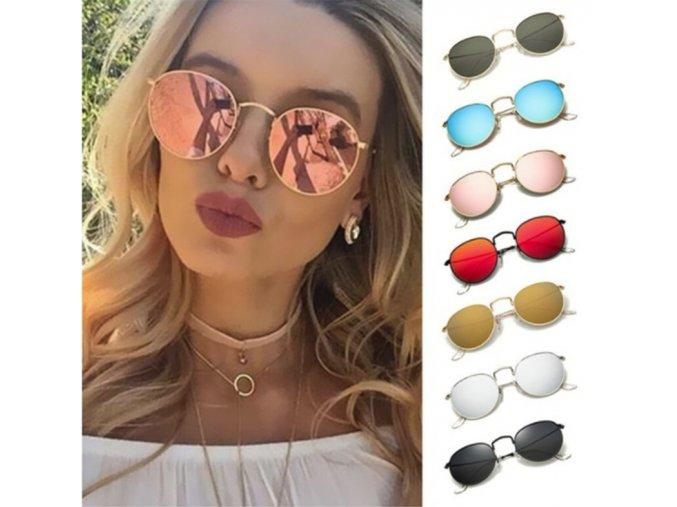 Stylové retro sluneční brýle (Barva Šedá)