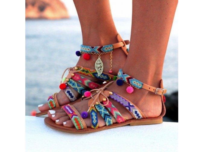 Krásné dámské letní sandále (Velikost 9)