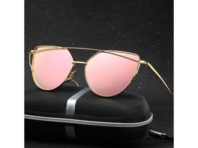MODNÍ HIT LÉTA 2018 - Luxusní dámské brýle (Barva Růžová)