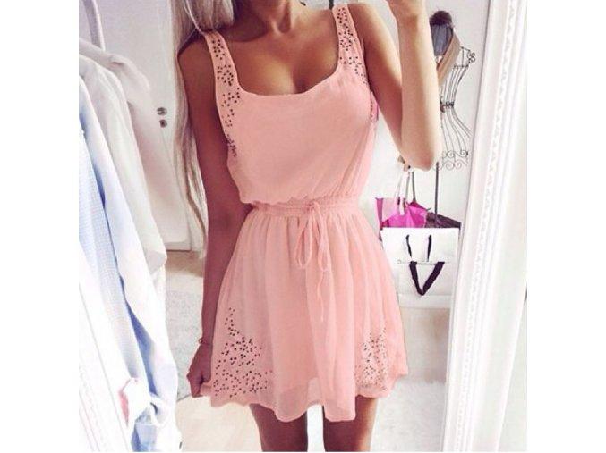 Dámské vysoce elegantní růžové šaty + POŠTOVNÉ ZDARMA (Velikost S)