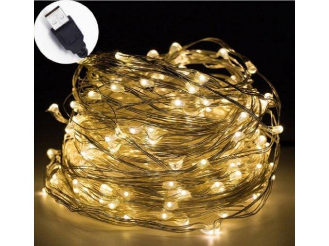 USB LED vánoční osvětlení 2m/5m/10m dlouhé