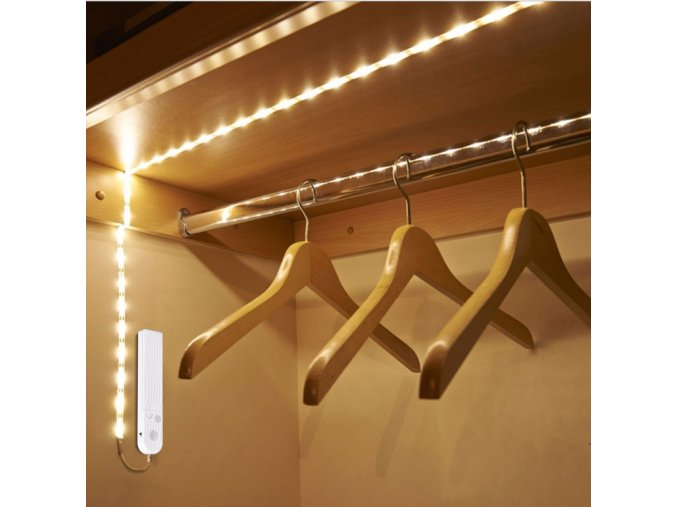 Luxusní LED světlo na baterie osvětlení do skříně s detektorem pohybu