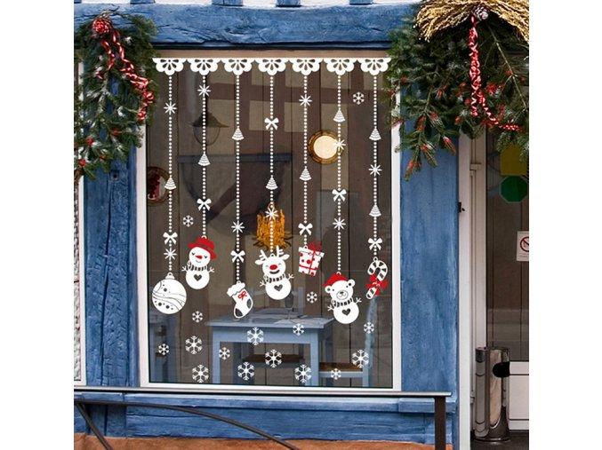 Vánoční dekorace- samolepky na okna, vánoční výzdoba inspirace