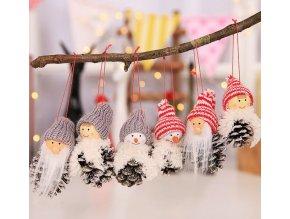 Vánoční dekorace- dekorace na stromeček šisky 2 druhy 3ks