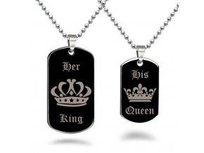 Stylový náhrdelník King - Queen