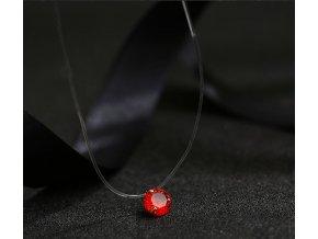 Pro ženy- krásný kulatý řetízek s kamínkem červený, modrý, zelený- vhodný jako dárek k Vánocům pro ženy, přítelkyni